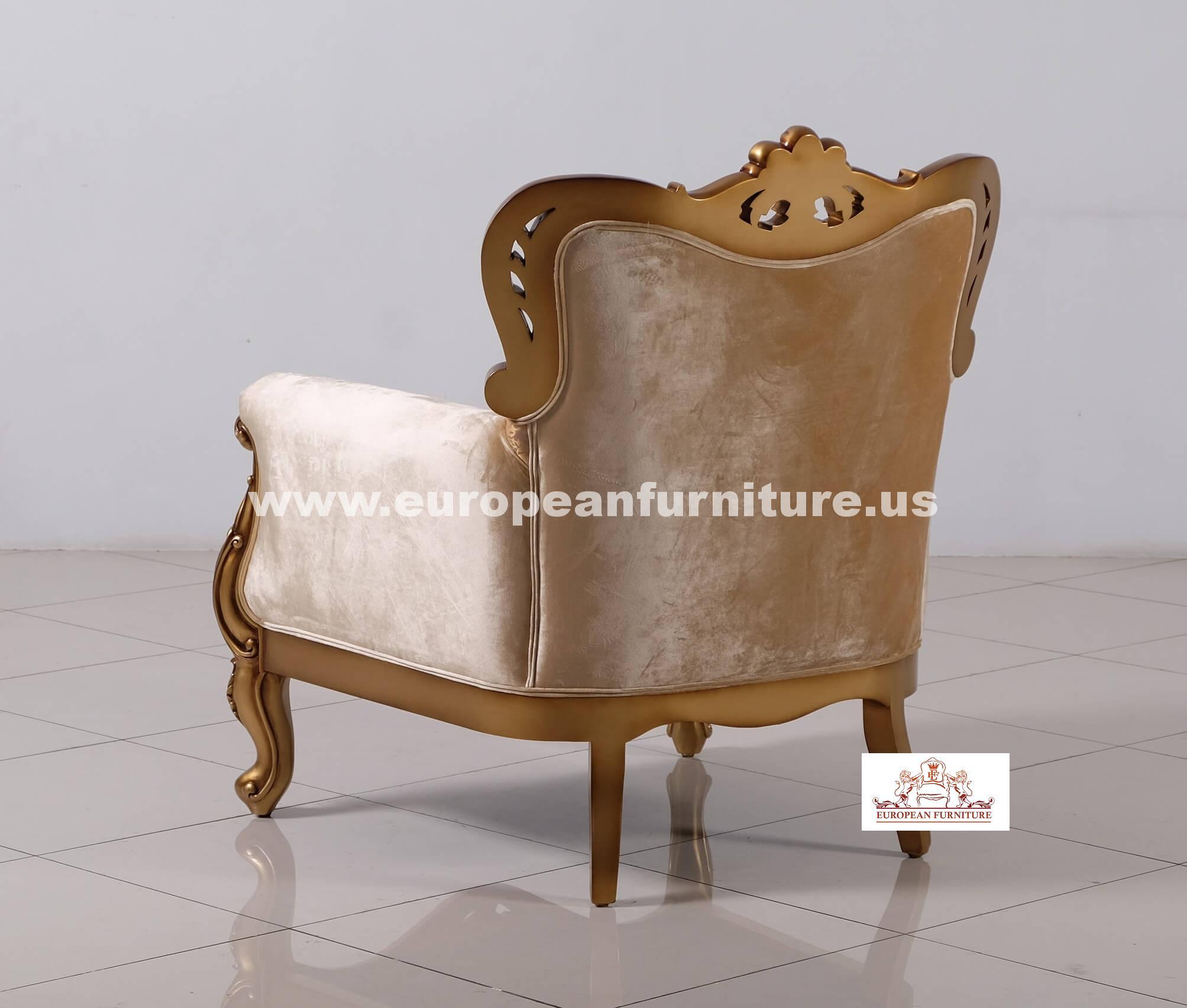 Sofa Loveseat Chair Set Wood Trim