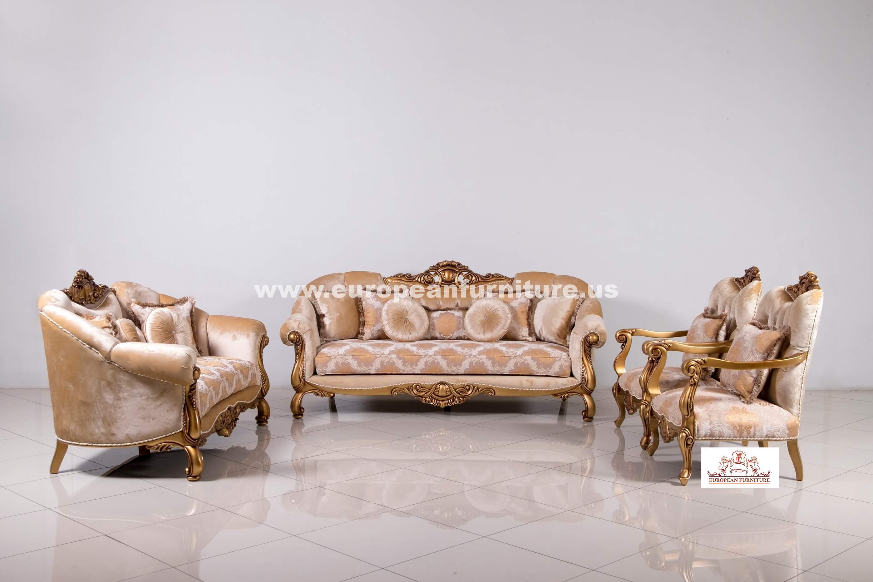 Bon Golden Knights Luxury Sofa Set